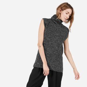 Everlane Chunky Wool Sleeveless Turtleneck sweater